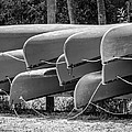 Canoes Bw by Carolyn Marshall