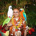 Can't Get Brighter Than This  Artist Navinjoshi In Hawaii Travel Vacations With Trained Parrots By P by Navin Joshi