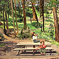 Canyon Campground - Yellowstone  1950's by Art By Tolpo Collection