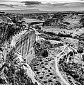 Canyon De Chelly Navajo Nation Chinle Arizona Black And White by Silvio Ligutti