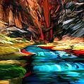 Canyon Waterfall Impressions by Bob and Nadine Johnston