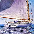 Cape Cod Catboat by Karol Wyckoff