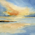 Cape Cod Sunset Seascape Painting by Beverly Brown
