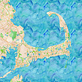 Cape Cod Watercolor Map by Joy McKenzie