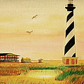Cape Hatteras Light At Sunset by Frank Hunter