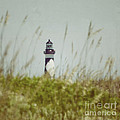 Cape Lookout Lighthouse - Vintage by Kerri Farley
