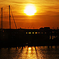 Cape May Harbor At Sunrise by Bill Cannon