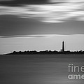 Cape May Lighthouse Long Exposure Bw by Michael Ver Sprill