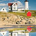 Cape Neddick Light  Reflections by Emmanuel Panagiotakis