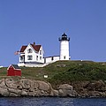 Cape Neddick Light Station In Maine by Mountain Dreams