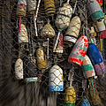 Cape Neddick Lobster Buoys by Susan Candelario