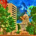 Capital - Jefferson City Missouri - Painting by Liane Wright