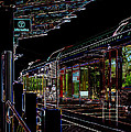 Capital Metro Rail In Neon by James Granberry