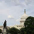 Capitol And Statue Washington Dc by Christiane Schulze Art And Photography