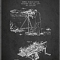 Capps Machine Gun Patent Drawing From 1899 - Dark by Aged Pixel
