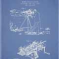 Capps Machine Gun Patent Drawing From 1899 - Light Blue by Aged Pixel