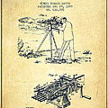 Capps Machine Gun Patent Drawing From 1899 - Vintage by Aged Pixel