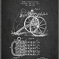Capps Machine Gun Patent Drawing From 1902 - Dark by Aged Pixel