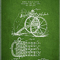 Capps Machine Gun Patent Drawing From 1902 - Green by Aged Pixel