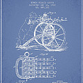 Capps Machine Gun Patent Drawing From 1902 - Light Blue by Aged Pixel