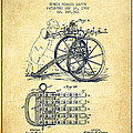 Capps Machine Gun Patent Drawing From 1902 - Vintage by Aged Pixel