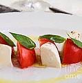 Caprese Mozzarella And Tomatoes by Roberto Giobbi