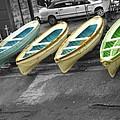 Capri Italy Aqua Green Boats by Robyn Saunders