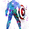 Captain America 2 by Watercolor Girl