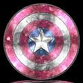 Captain America Shield Digital Painting by Georgeta Blanaru
