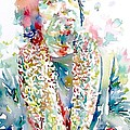 Captain Beefheart Watercolor Portrait.2 by Fabrizio Cassetta