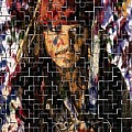 Captain Jack Sparrow Digital Painting by Costinel Floricel