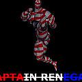 Captain Renegade Super Hero Jumping Karate Kick by R Muirhead Art