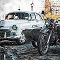 Car And Sidecar by Claude LeTien