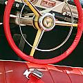 Car Interior Red Seats And Steering Wheel by David Zanzinger