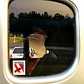Car Window Reflection by Karl Rose