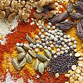 Cardamoms Nuts And Spices For Asian Food by Paul Cowan