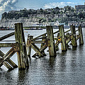 Cardiff Bay Old Jetty Supports by Steve Purnell