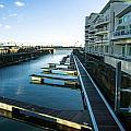 Cardiff Bay Pontoons by Mark Llewellyn