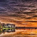 Carew Castle Sunset 2 by Steve Purnell