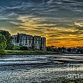 Carew Castle Sunset 3 by Steve Purnell