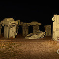 Carhenge At Night by Bob Christopher