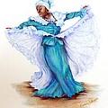 Caribbean Folk Dancer by Karin  Dawn Kelshall- Best