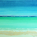 Caribbean Ocean Turquoise Waters Abstract by Robyn Saunders