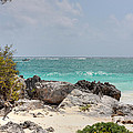 Caribbean Sea And Beach At Tulum by Paul Williams