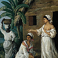 Caribbean Women In Front Of A Hut by Agostino Brunias