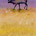 Caribou On The Tundra 2 by Carolyn Doe