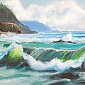 Carmel California Pacific Ocean Seascape Painting by Bob and Nadine Johnston