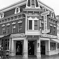 Carnation Cafe Main Street Disneyland Bw by Thomas Woolworth