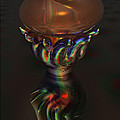 Carnival Glass Bulb Sprouter  by Ann Stretton