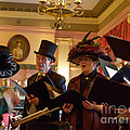 Carol Singers At Christmas by Louise Heusinkveld